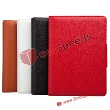 Hot Lichee Style Stand Leather Skin Detachable wireless Bluetooth 3.0 Keyboard cover For iPad Mini