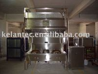 Exhaust Hood with Electrostatic Air Filter for Kitchen Ventilation