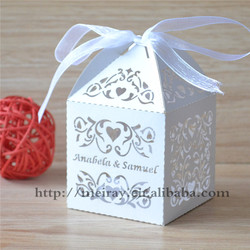 Amazing wedding gift items ideal products wedding items laser cut white wedding favor boxes