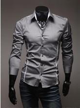 2015 men long sleeve shirt men autumn leisure