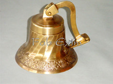 Brass Ship Bell, Church Bell, Wall Mounted Brass Bell