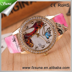 Most Popular Christmas Gifts Diamond Clock Watch Fashion Leather Alloy Case Ladies Analog Quartz Cheap China Wrist Watch items