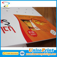 Screenprinting with UV stable ink Plastic sheet die cutting polypropylene pp