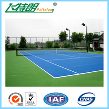Eco-friendly PU Spay-coat System Court Rubber Flooring PU Material
