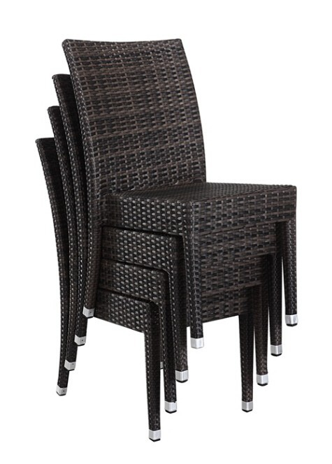 Modern outdoor furniture restaurant used dining rattan for Modern rattan dining chairs