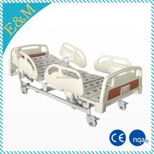 Hospital manual crank adjustable bed, medical patient room bed and mattress/accessories