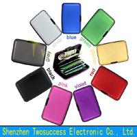 Aluminum Credit Card Holder Case Alu Wallet Protect From RFID Scanning Card Holder