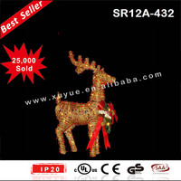Life size rattan reindeer outdoor christmas decorations