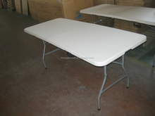 pure white color folding table/outdoor long table in 71inches/lowes converible plastic table/ISO approved factory direct price