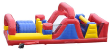 adult inflatable obstacle course, turbo rush dual lane obstacle course sport games