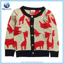 Big world High quality Long Sleeve Soft Sweater Little Boys Cardigan Cashmere Knitting Sheep Image Sweater Clothes
