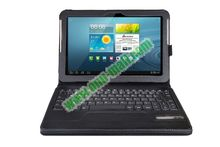 High-quality keyboard case for samsung galaxy tab p7500//P7510/P5100/P5110 With 450mAh Mobile Power And PU Leather Case