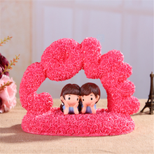Hot selling 2015 LOVE romantic couples crafts rose flower wedding gift