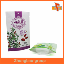 New material standing heat sealing chinese wolfberry plastic bag