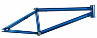 Clip3 Cromoly 4130 Butted Trans Blue BMX Frame used bmx bike parts