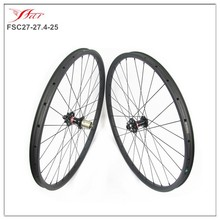 Chinese Cheap 650b carbon mountain wheels 27.5er, 27.4mm x 25mm carbon clincher wheels mtb 3K Matte 28H/28H