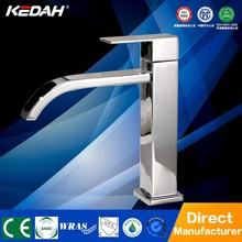 Classic single lever square brass cold wash basin water tap