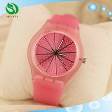 Styles New Arrival Jelly Silicone Watch Watermelon Fruit Plastic Women Dress Watch