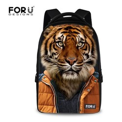 FOR U DESIGN Animal Show Trendy College Bags Tiger Head Backpack School with Handle