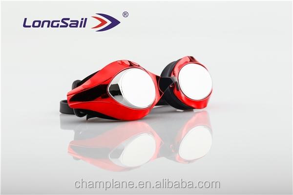 2016 الكبار سيليكون نظارات سباحة سباق الجملة مخصص جعل