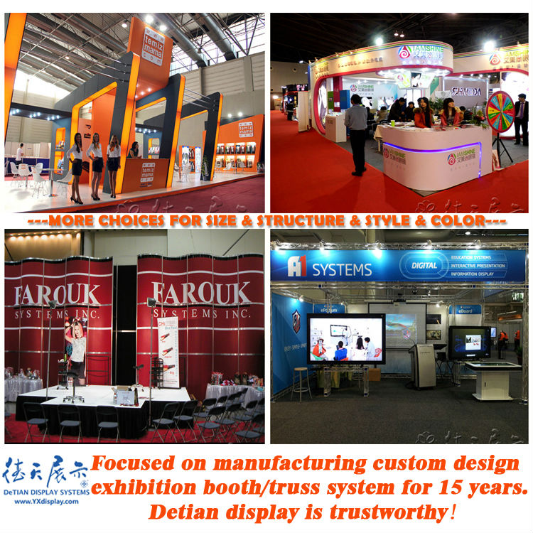 Simple Exhibition Stand Up : Made of acrylic portable aluminum truss exhibition stand