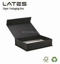 Matte lamination plain black paper gift packaging box luxury jewelry packaging