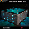2014 Hottest Model!!!Heating outdoor hot tub Colorful hot tub with LED light Garden spa hot tub