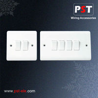10amp 2 Gang and 4 Gang 1 Way Wall Switch