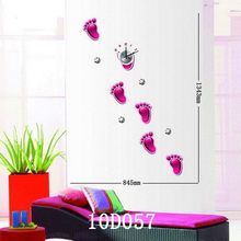 Super quality best sell trend style high quality decoration little feet big size diy wall clocks