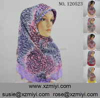 Factory direct sale stylish fiber flax muslim hijab,turban,arabian islamic scarf