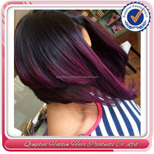 Hot selling factory direct burgundy short layered bob glueless full lace wigs for black women