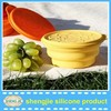 100% silicone material BPA free low price silicone baby bowl soft silicone bowl with lid for cheap price