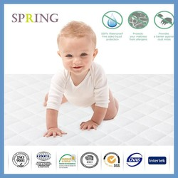Premium quality Fitted Quilted Waterproof Crib Mattress Cover