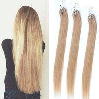 100% Human Brazilian Micro Ring Loop Hair High Quality Cheap Straight Hair Weave And Brazilian Straight Hair