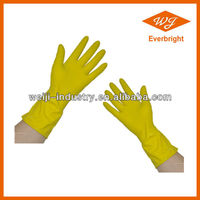 Durable rubber work gloves/latex coated working gloves