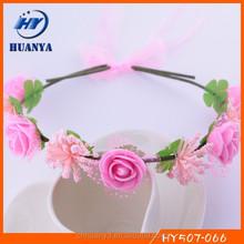 New designs fancy elegant wedding decorative felt artificial rose flower indian garlands