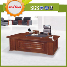 Office table designs in wood/curved office desk