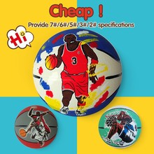 Different Size Training size 7 cheap rubber basketball ball