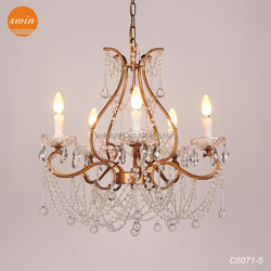 2015 Newest Italian style cristal chandelier lighting, gold wrought iron chandelier