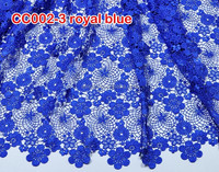 CC002-3 royal blue wholesale french lace fabric /water soluble lace fabric/ chemical lace