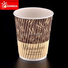 Hot sale disposable branded heatwave paper cups