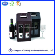 Leather wine bag carrier/Wine bottle carrier/Wine carrier