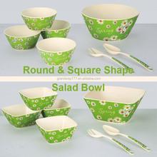 Printing Bamboo Fibre Salad Bowl,Melamine Fruit Bowl