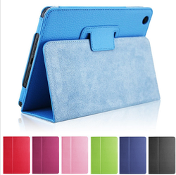 Flip Litchi Grain Leather Stand Cover Case For iPad Air
