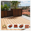 Hot sale high quality anti-uv wpc decking cheap outdoor flooring composite decking china