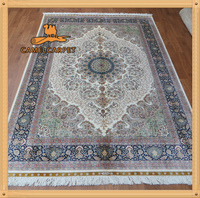 5.5'x8' hand made hand knotted carpet silk oriental rugs