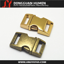 Jinyu H001 side-release metal buckle,curved side-release metal buckle for dog collar