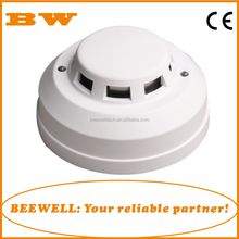 white color cheap conventional fire alarm smoke detector work with fire alarm control panel