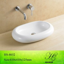 HS-5008 Hanse factory above counter oval sharpe wash basin pictures