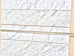 Mass production 4''x18'' bianco carrara C white marble